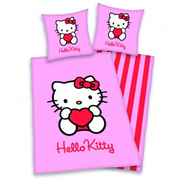 Hello Kitty Bettwäsche pink 100% Baumwolle