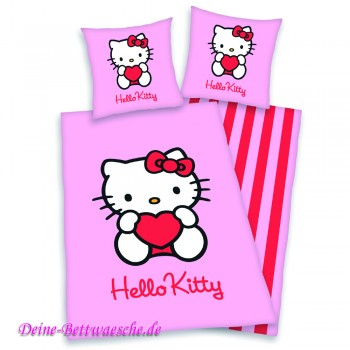 Hello Kitty Comicbettwäsche in pink